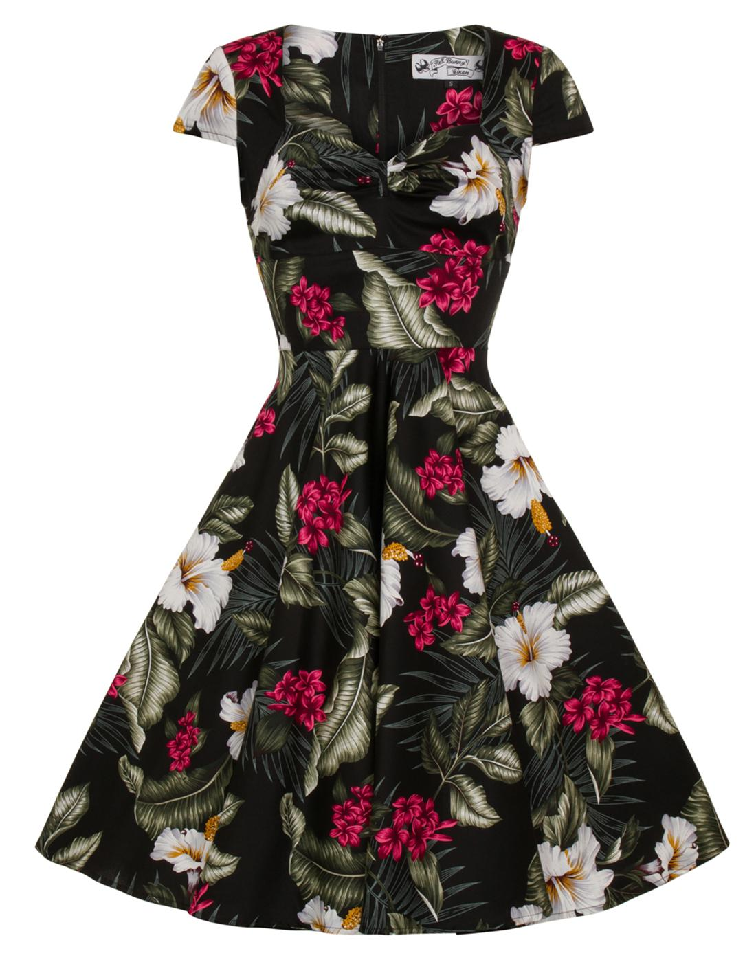Kalei HELL BUNNY Vintage Floral Print 50s Dress
