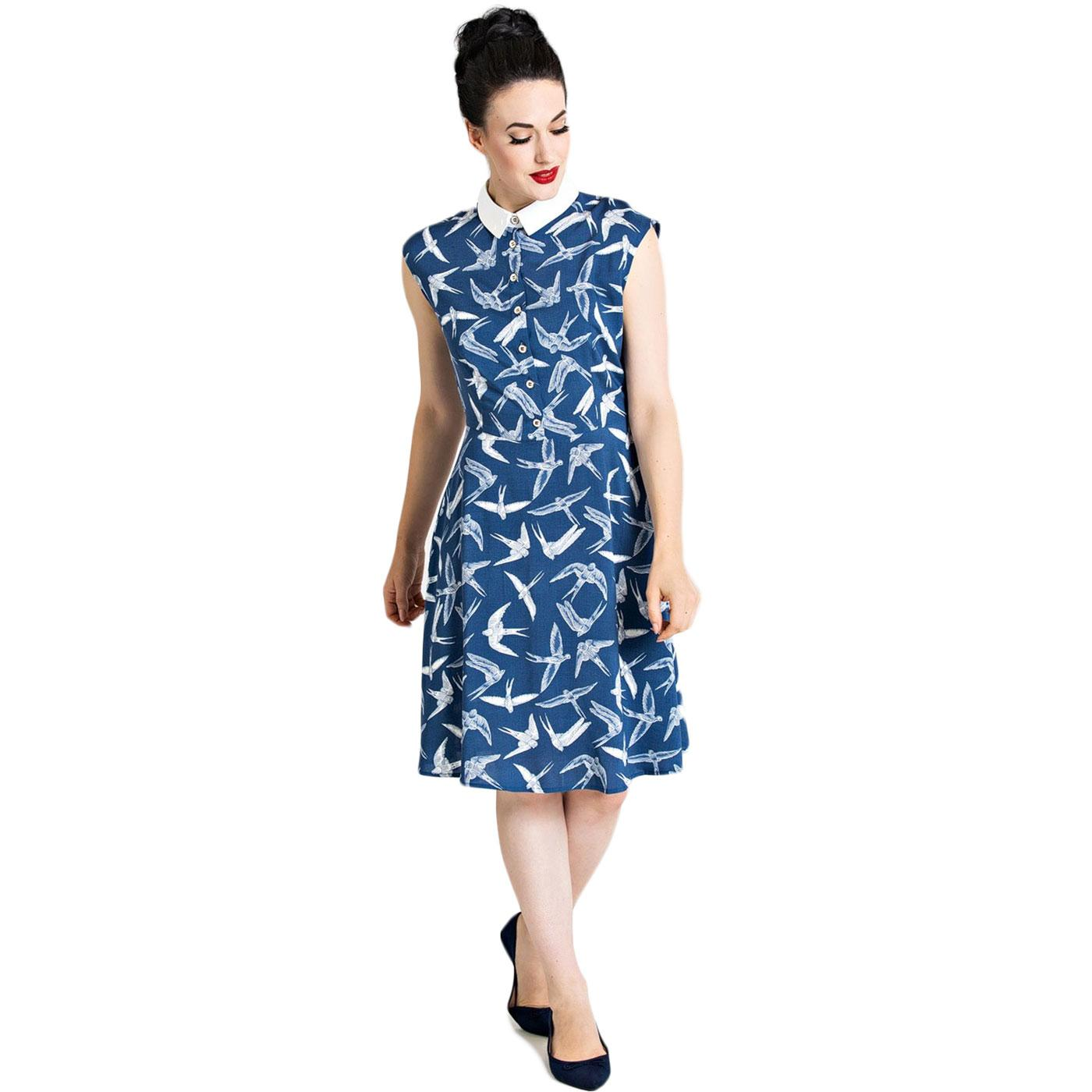 Lilou HELL BUNNY Retro 60s Swallows Mod Dress