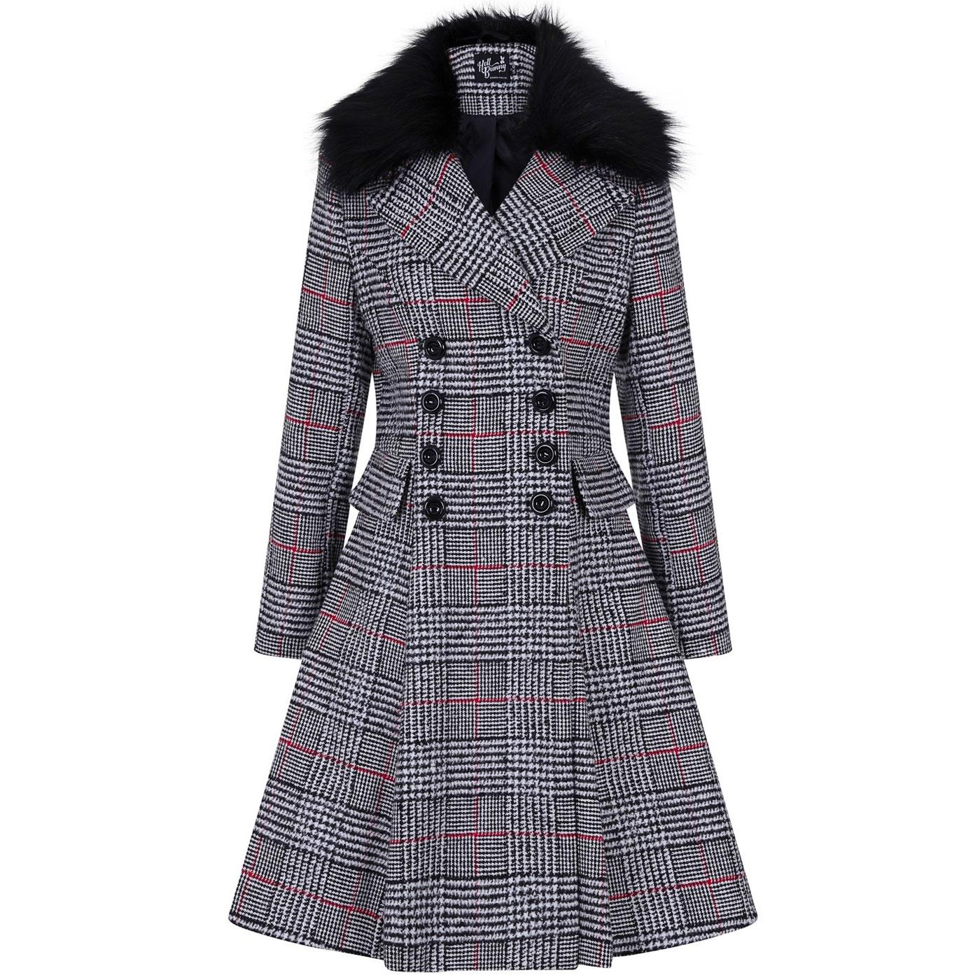 Pascale HELL BUNNY Vintage Check Winter Coat