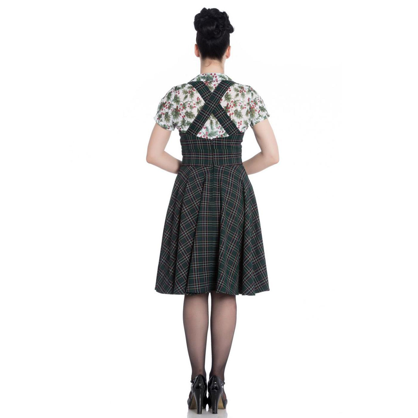 HELL BUNNY Peebles 50s Vintage Tartan Pinafore Dress GR