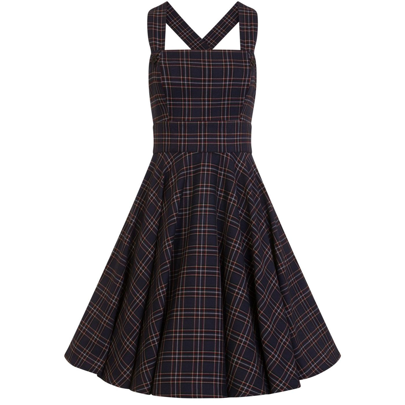 Peebles HELL BUNNY 1950's Tartan Pinafore Dress