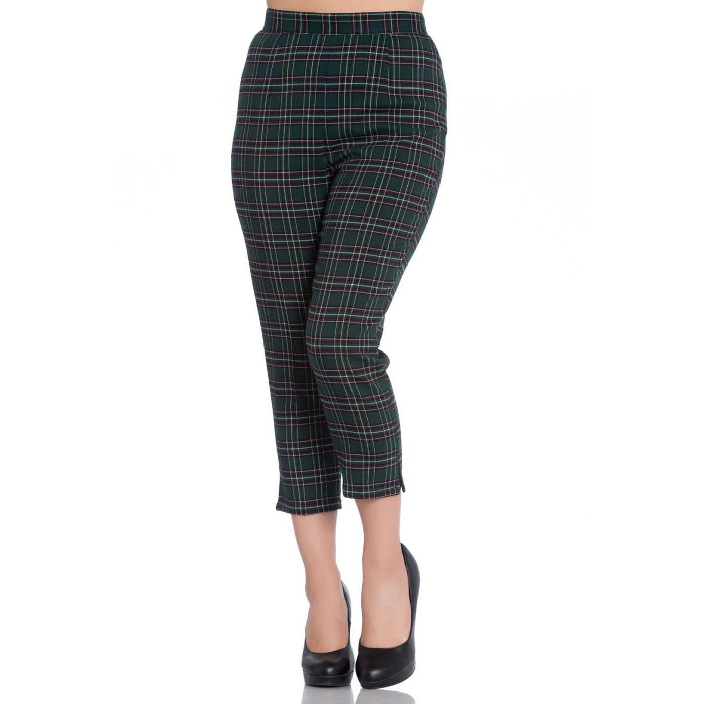 Peebles HELL BUNNY 50s Cigarette Trousers GREEN