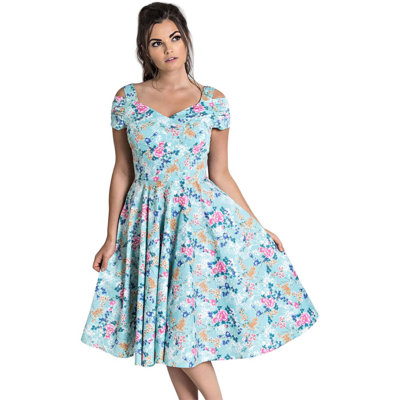 Yoko HELL BUNNY 50's Vintage Pastel Floral Dress