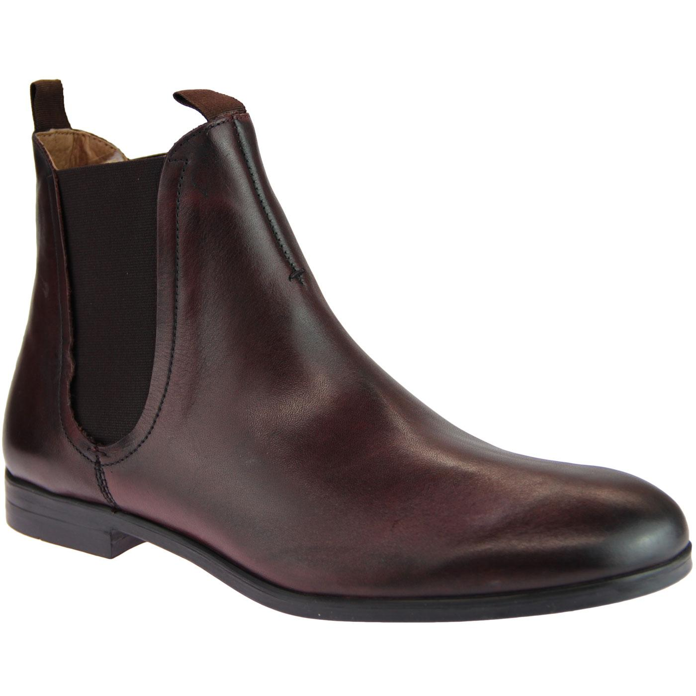 Atherstone HUDSON Mod Leather Chelsea Boots BROWN