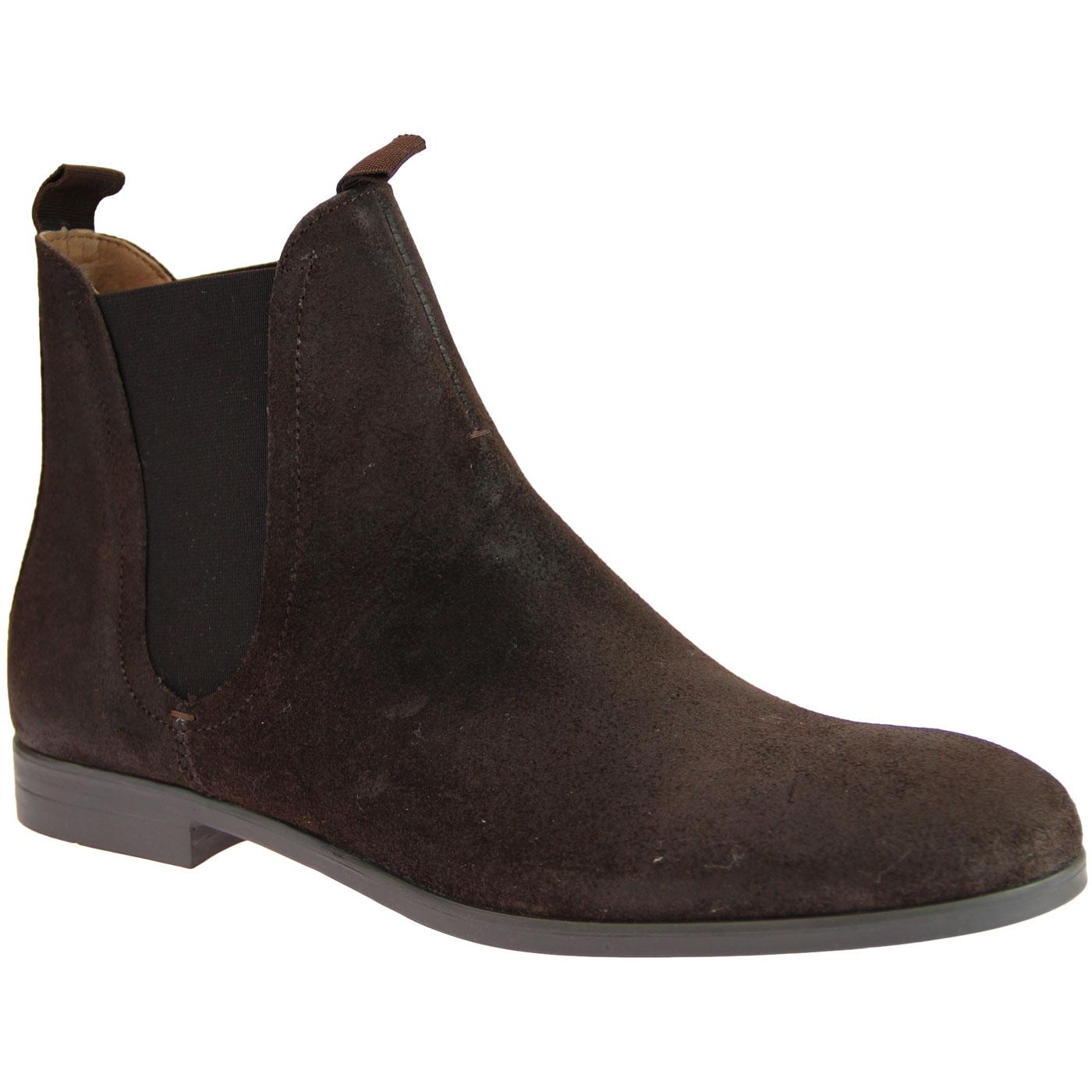 Atherstone HUDSON Mod Suede Chelsea Boots (Brown)