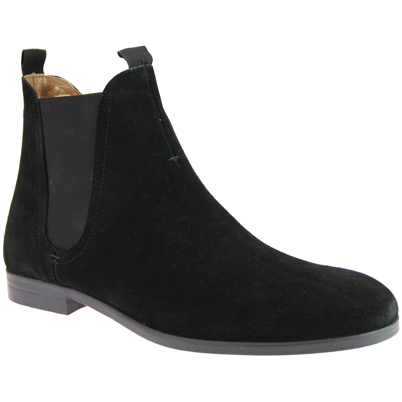 Atherstone HUDSON Mod Suede Chelsea Boots (Black)
