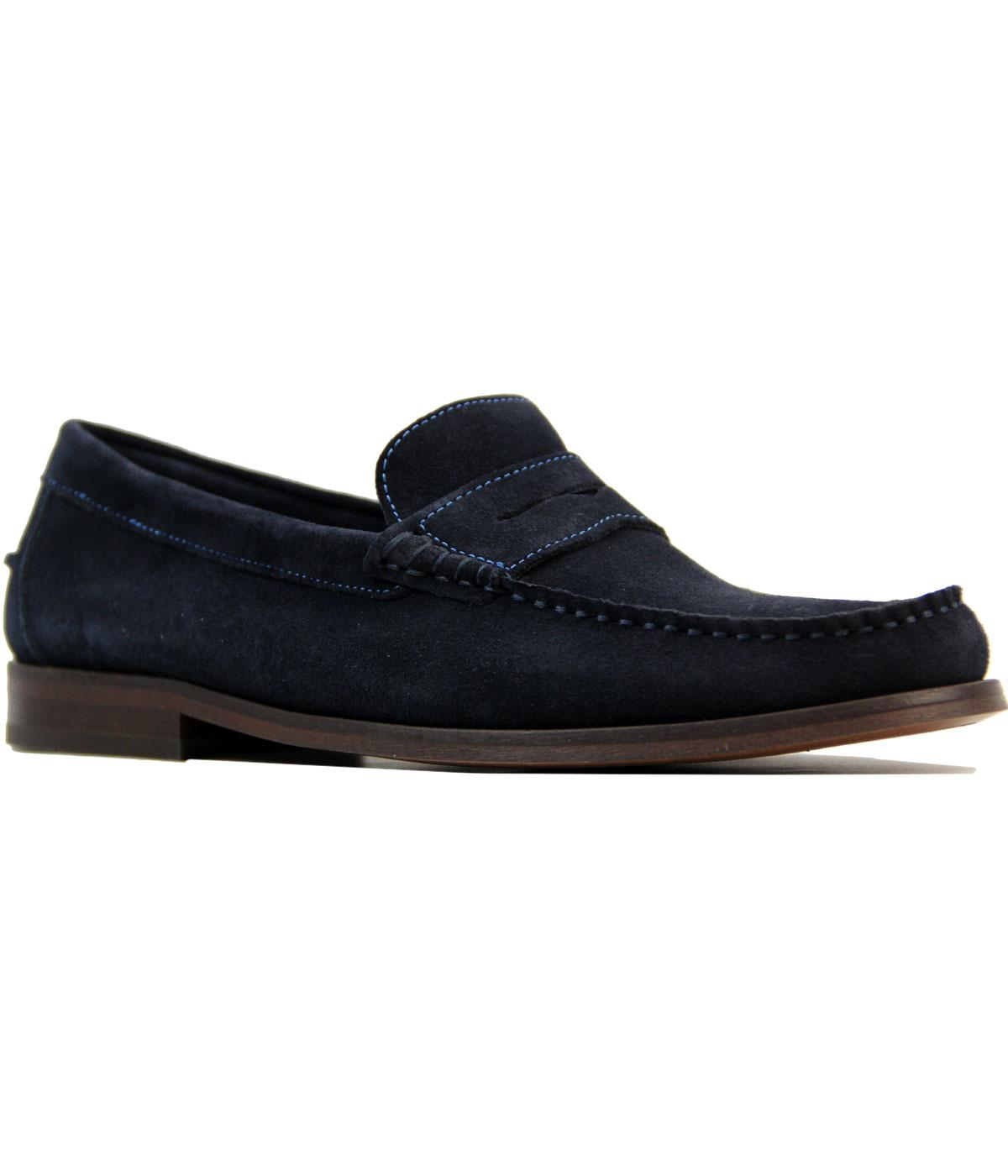Augusta Suede H by HUDSON Retro Mod Penny Loafers