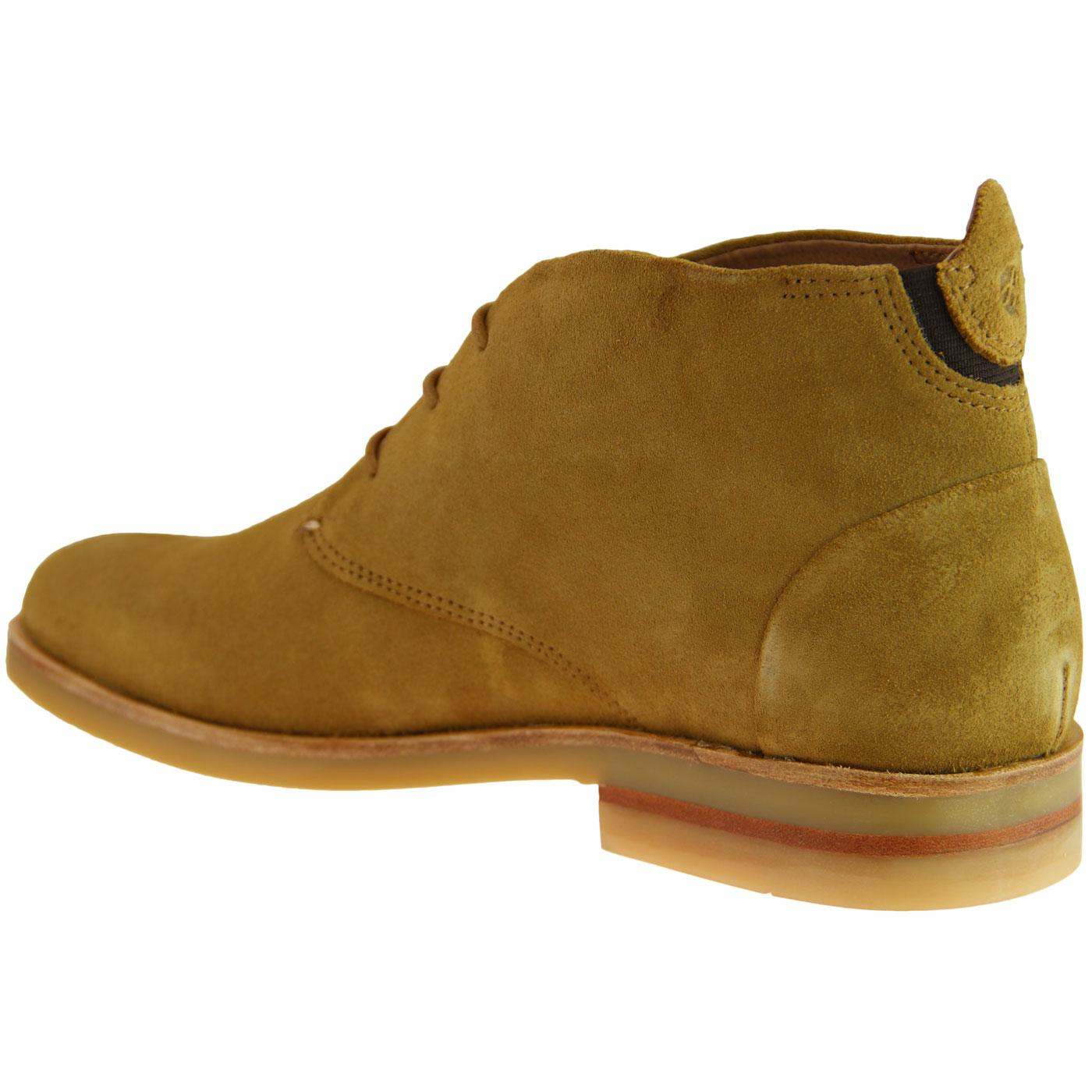 8c5df6da8e1 HUDSON Bedlington 1960s Mod Suede Desert Boots in Camel