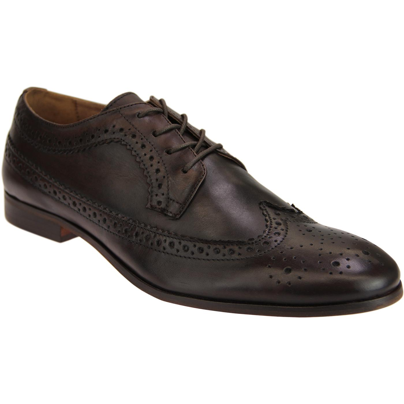 Crowthorne HUDSON 60s Mod Leather Brogues (Brown)
