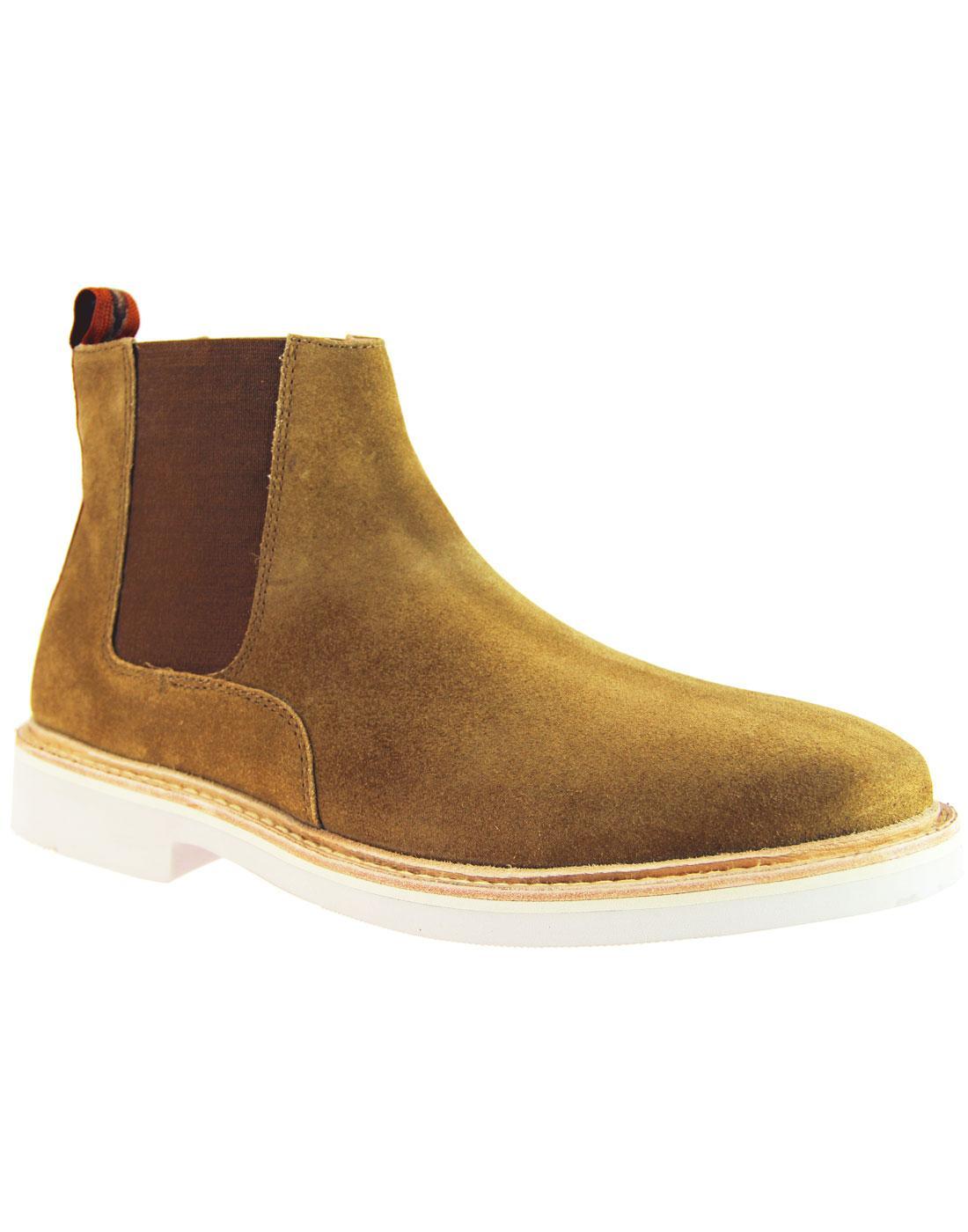 Gallant HUDSON 366 Mod Suede Chelsea Boots TAN