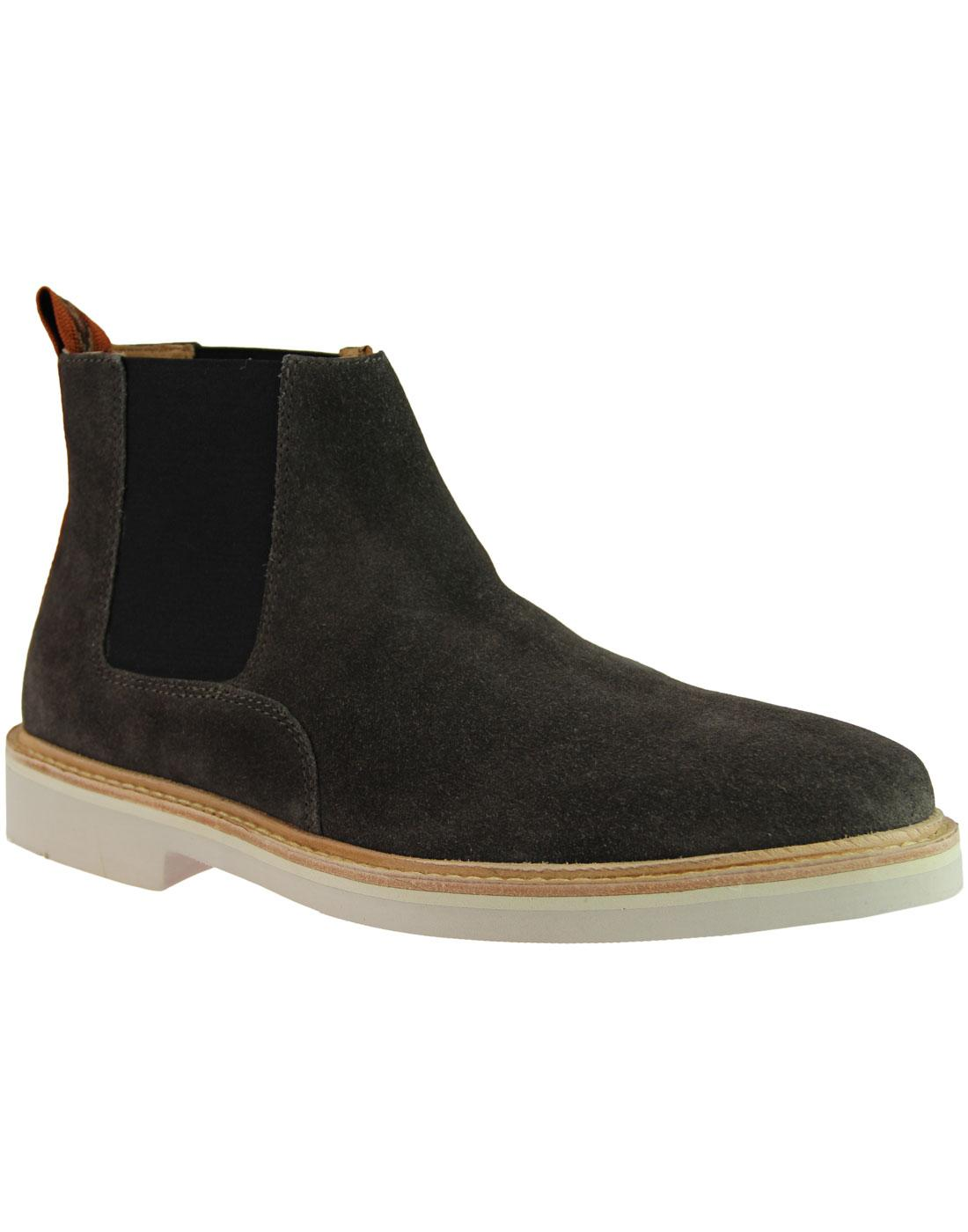 Gallant HUDSON 366 Mod Suede Chelsea Boots GREY