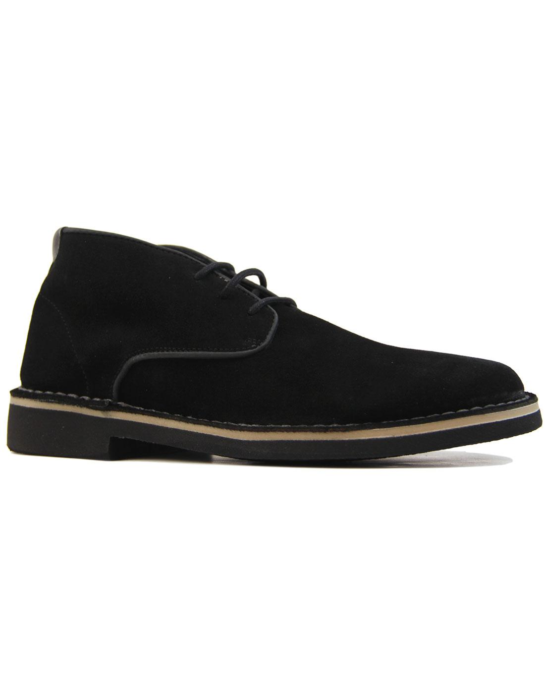 Margrey HUDSON Mod Leather Trim Suede Desert Boots