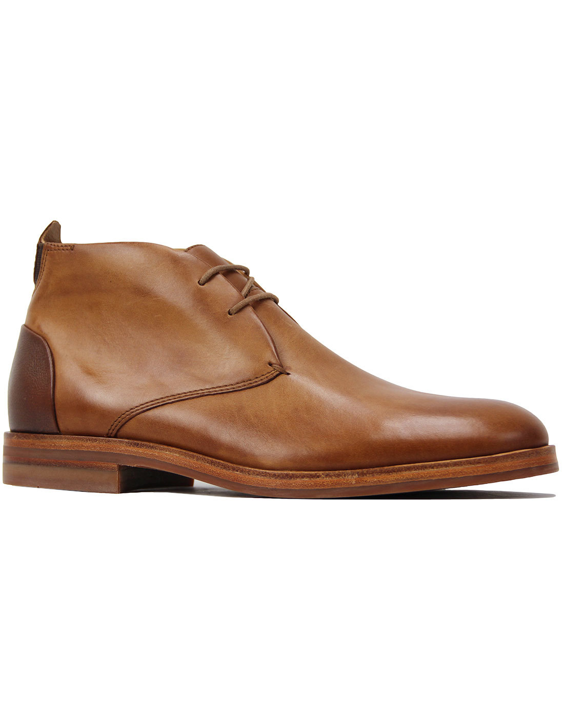 Matteo H by HUDSON 60s Mod Chukka Boots Tan