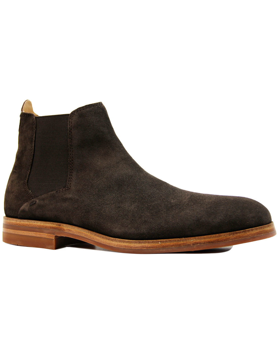 Tonte Suede H by HUDSON Mod Chelsea Boots BROWN