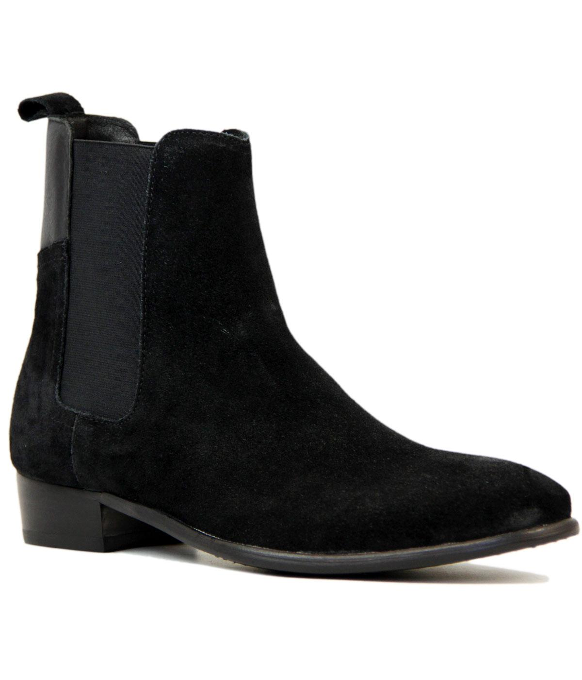 Watts H BY HUDSON Cuban Heel Suede Chelsea Boots