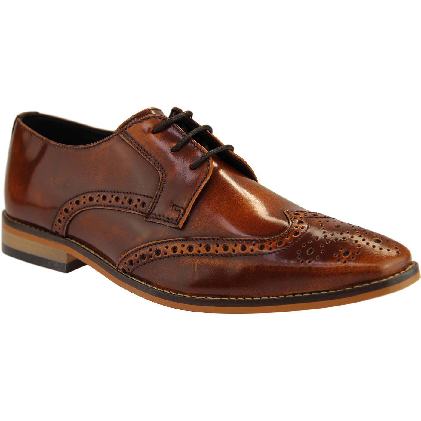 Ramsay IKON Men's Mod Burnished Leather Brogues T