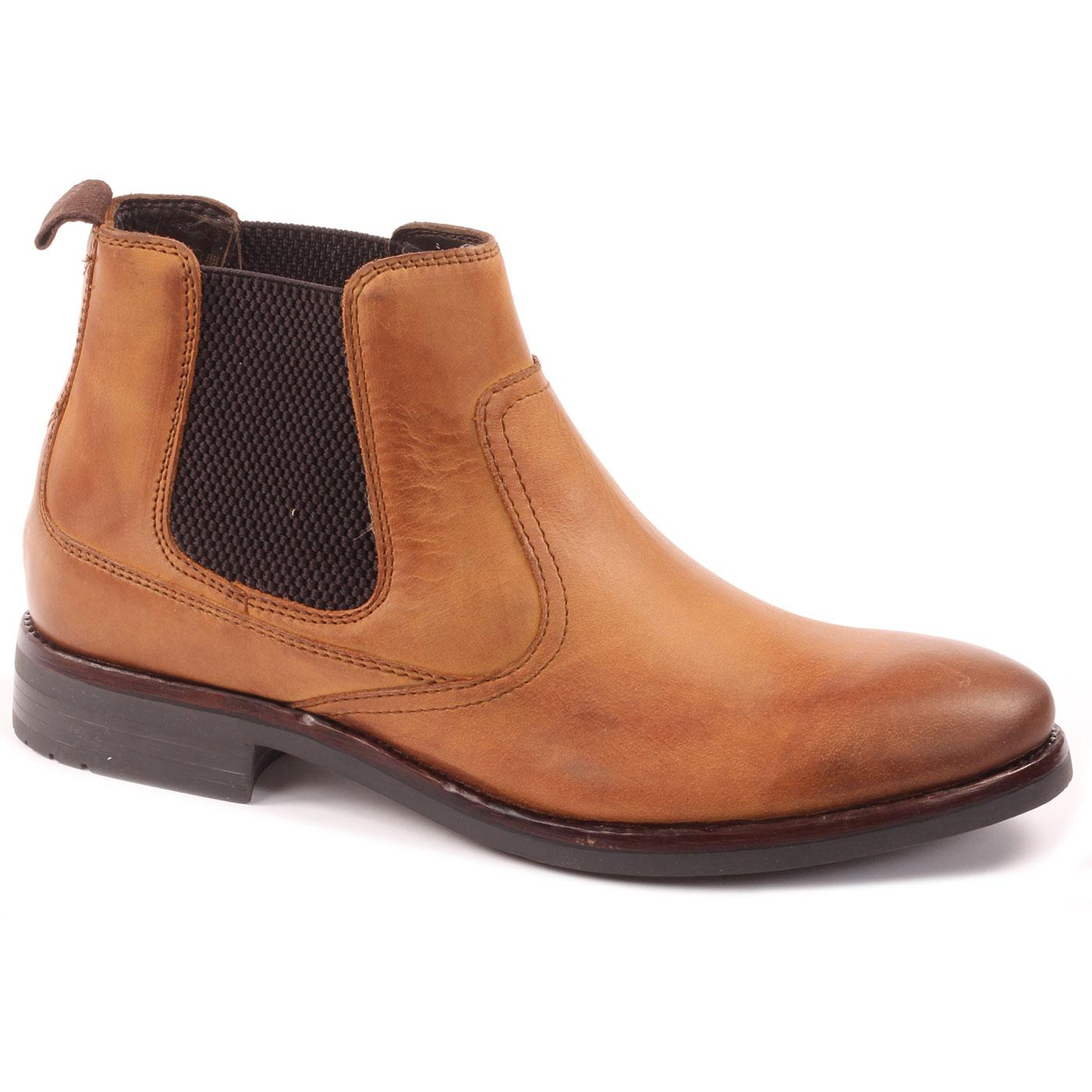 Clayton IKON Men's Retro Mod Chelsea Boots (Tan)
