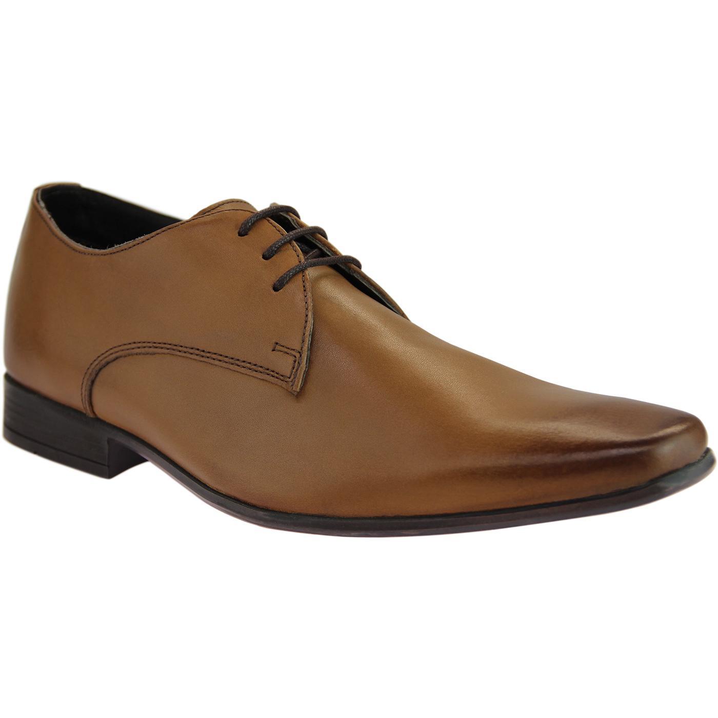 Drayton IKON Men's Mod Retro Derby Shoes (Tan)