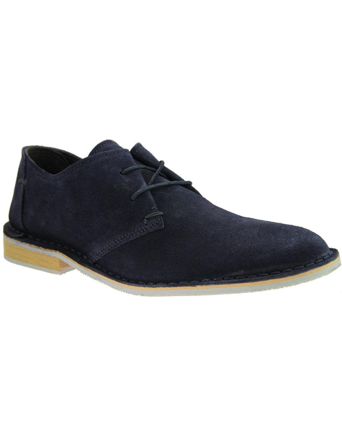 Franklin IKON Retro Mod Suede Desert Shoes NAVY
