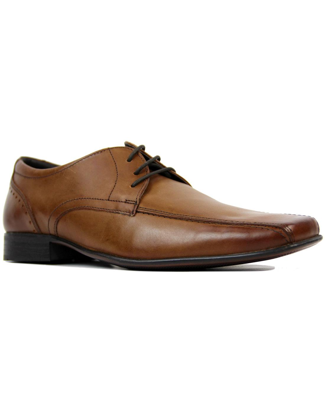 Fraser IKON Retro Mod Leather Chisel Toe Shoes TAN