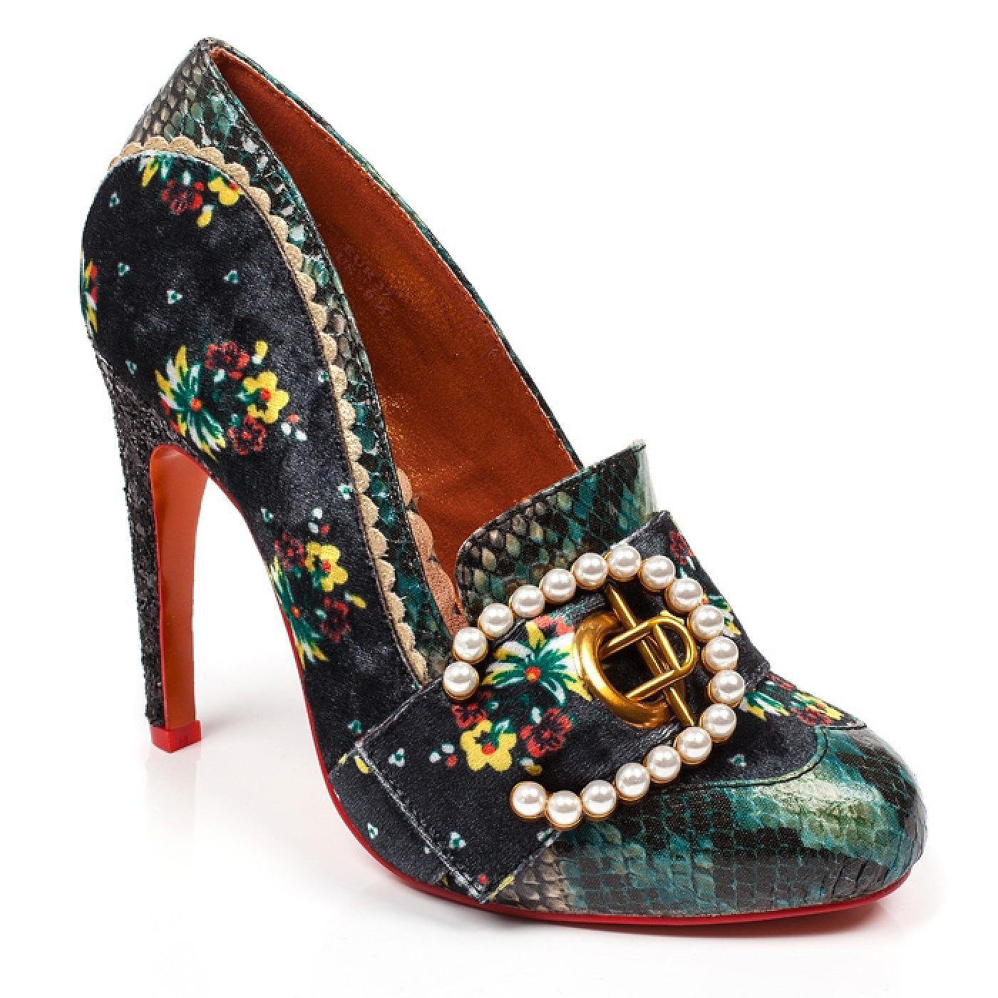Velvet Pearl POETIC LICENCE Vintage Floral Heels