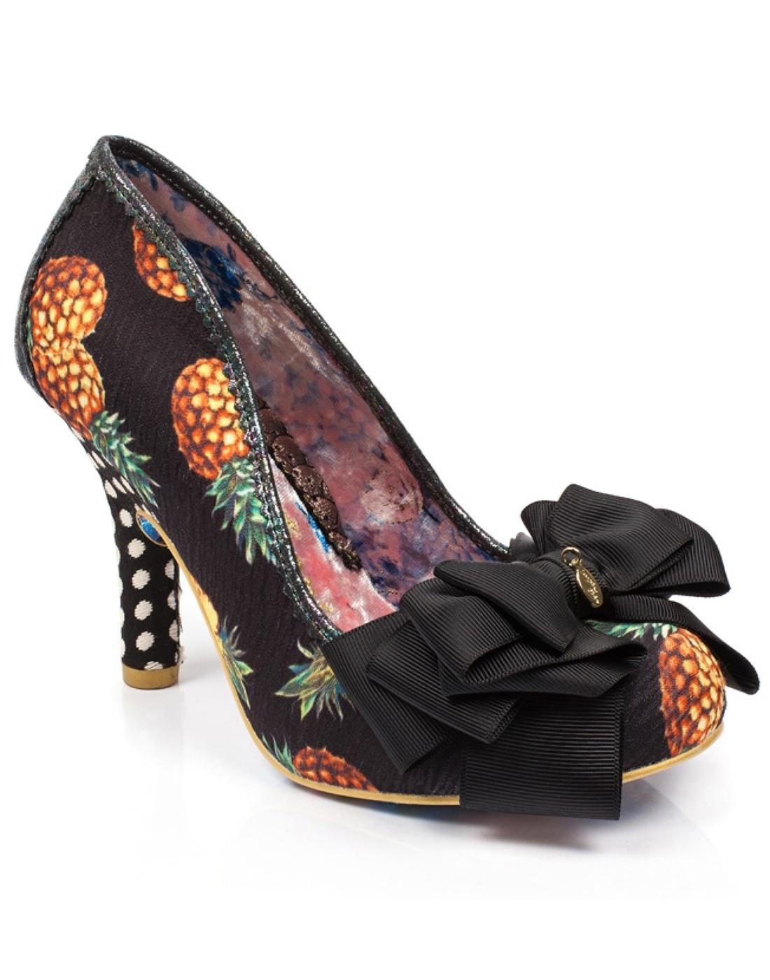 Ascot IRREGULAR CHOICE Black Pineapple Print Heel
