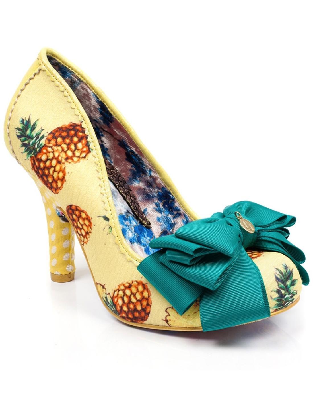 Ascot IRREGULAR CHOICE Yellow Pineapple Heels