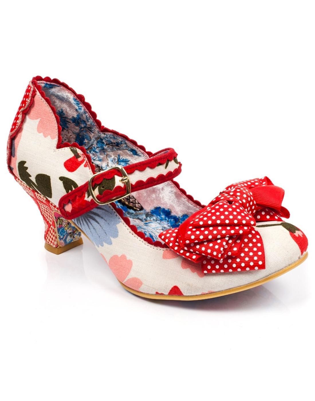 Balmy Nights IRREGULAR CHOICE Retro Shoes - White