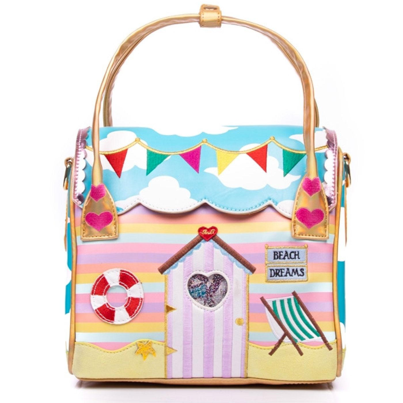 Beach Hut IRREGULAR CHOICE Retro Seaside Bag