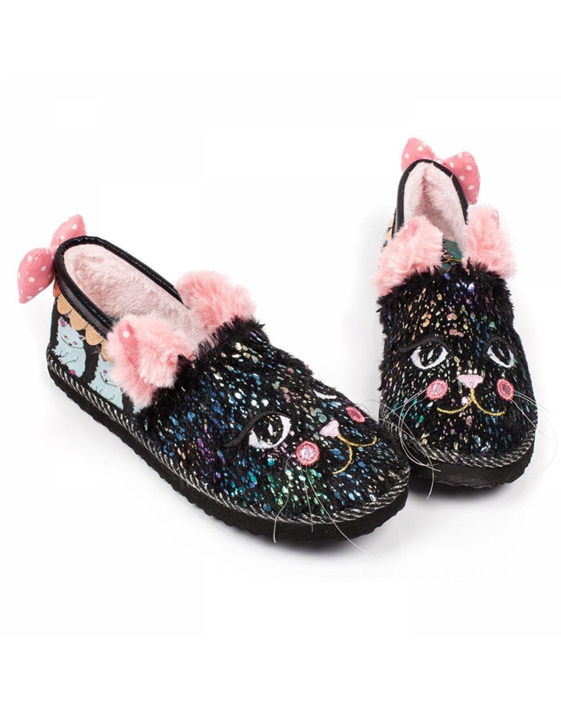 Cat Nap IRREGULAR CHOICE Cosy Kitty Slippers