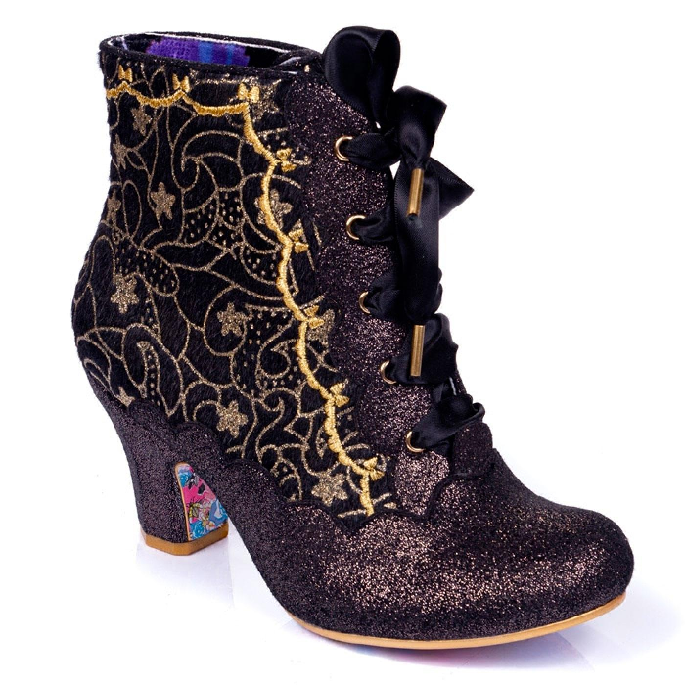 Chinese Whispers IRREGULAR CHOICE Glitter Boots Bl