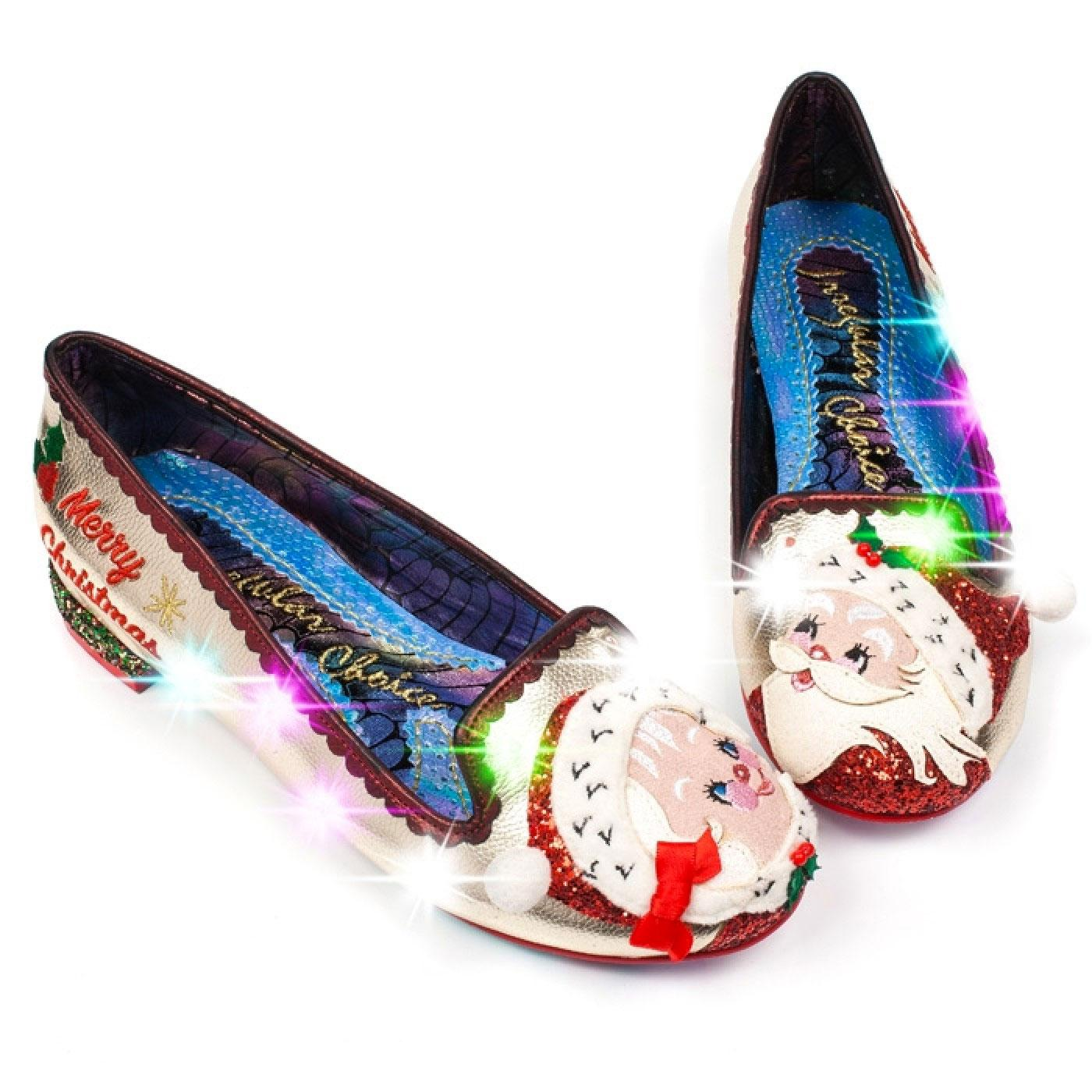 The Clauses IRREGULAR CHOICE Christmas Flats