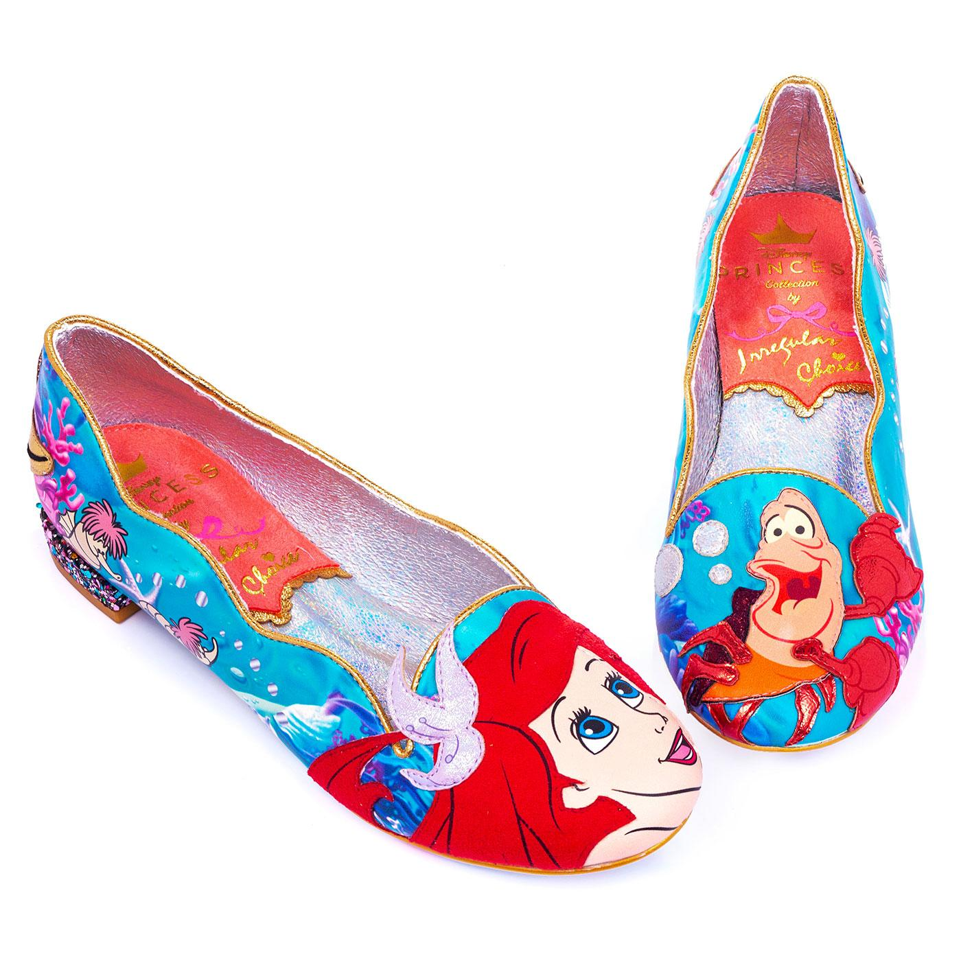 Seaside Cutie IRREGULAR CHOICE Ariel Applique Flat