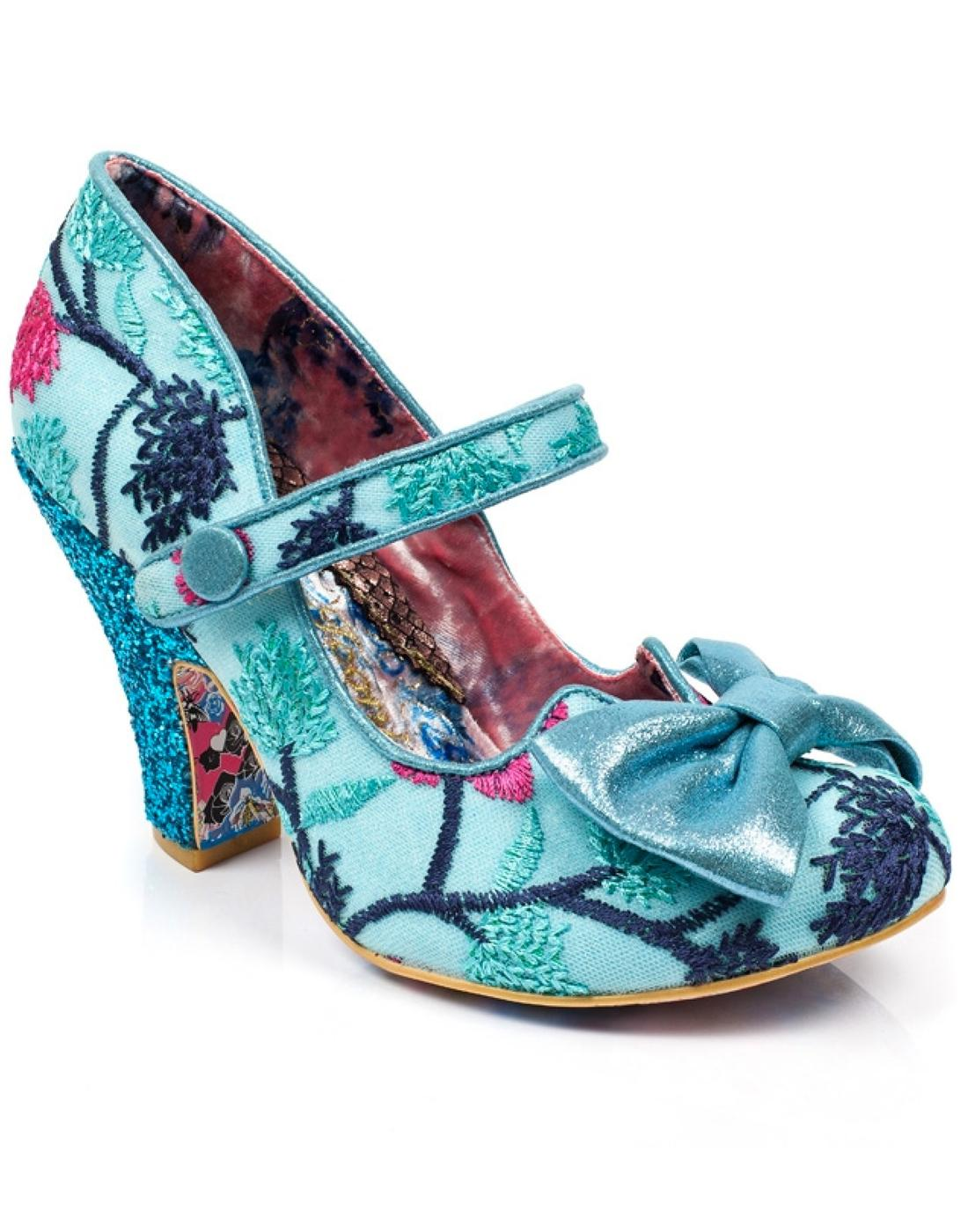 Fancy This IRREGULAR CHOICE Retro 50s Heels Blue