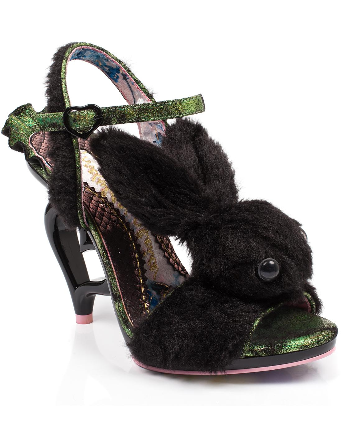 Fluffy Love IRREGULAR CHOICE Bunny Heart Heels B