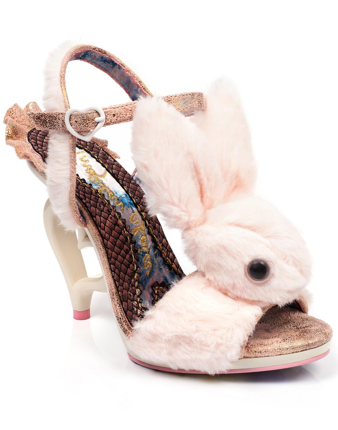 Fluffy Love IRREGULAR CHOICE Bunny Heart Heels P