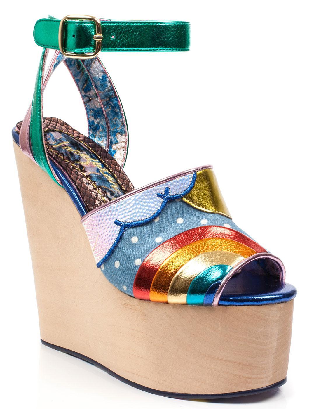 803c4e19337 IRREGULAR CHOICE Funshine Retro 70s Platform Shoes