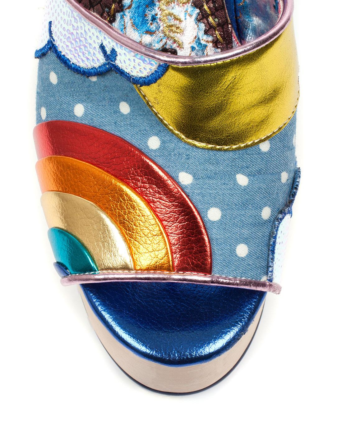 b7136e9077f66 IRREGULAR CHOICE Funshine Retro 70s Platform Shoes