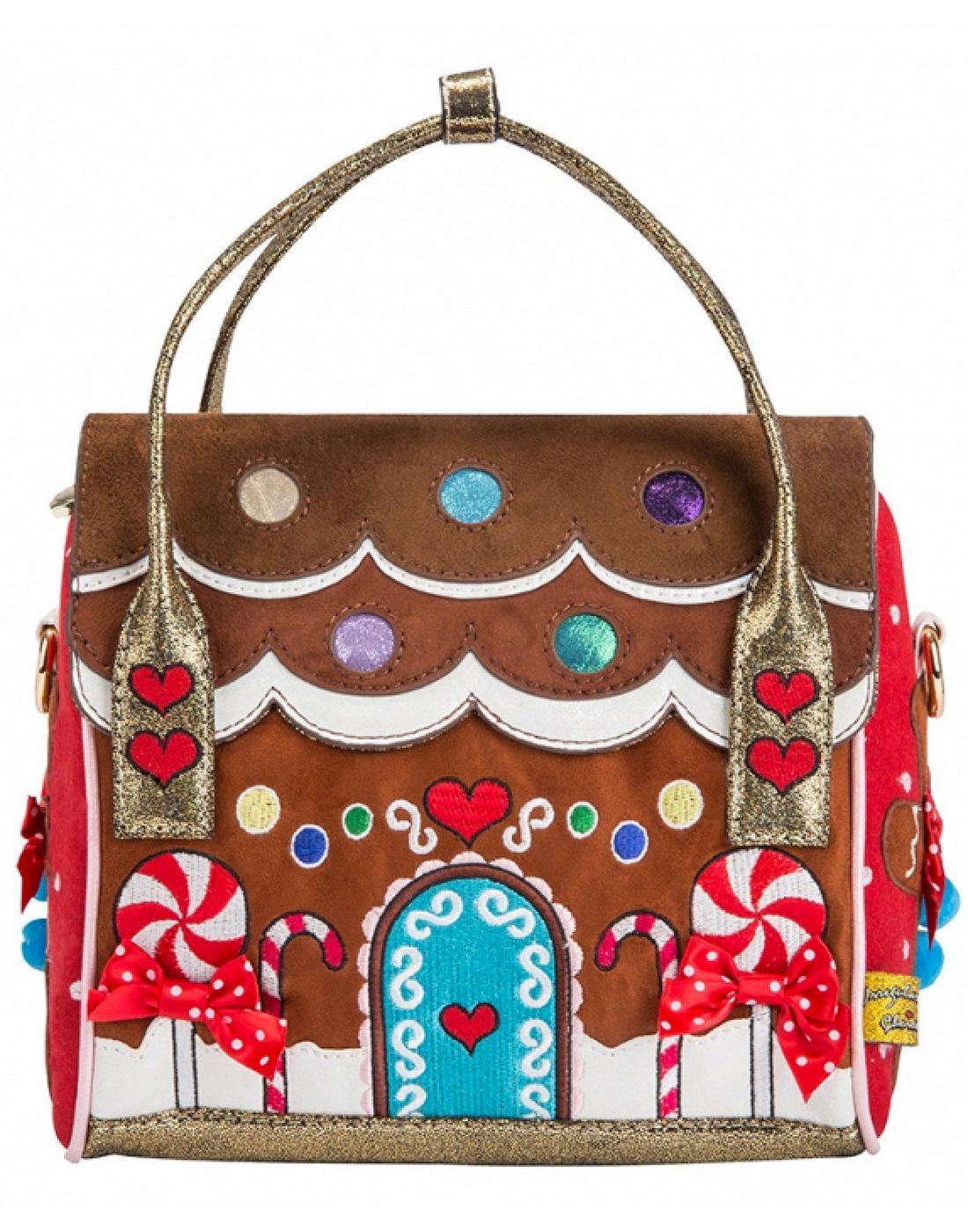 House Party Irregular Choice Gingerbread Handbag