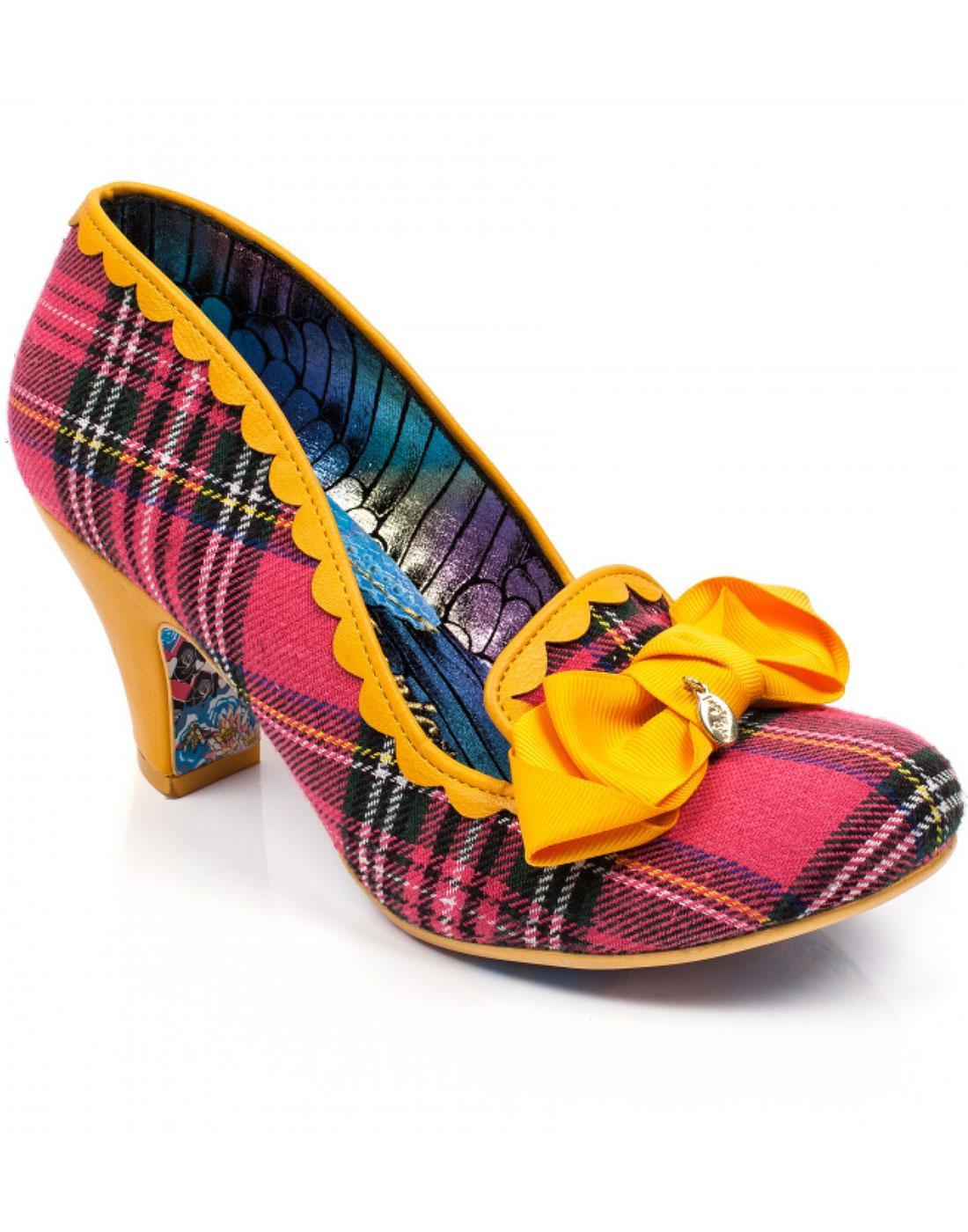 Kanjanka IRREGULAR CHOICE 90s Pink Tartan Heels