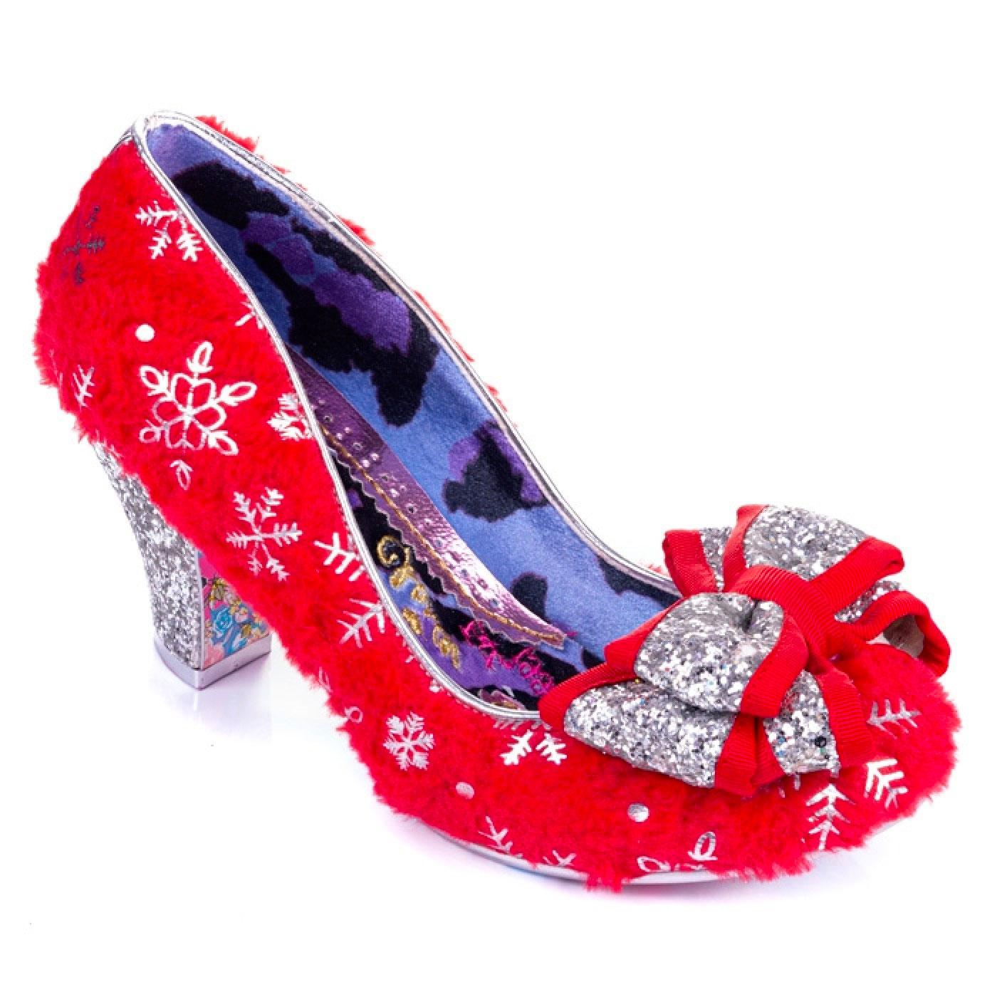 Lady Ban Joe IRREGULAR CHOICE Red Snowflake Heels