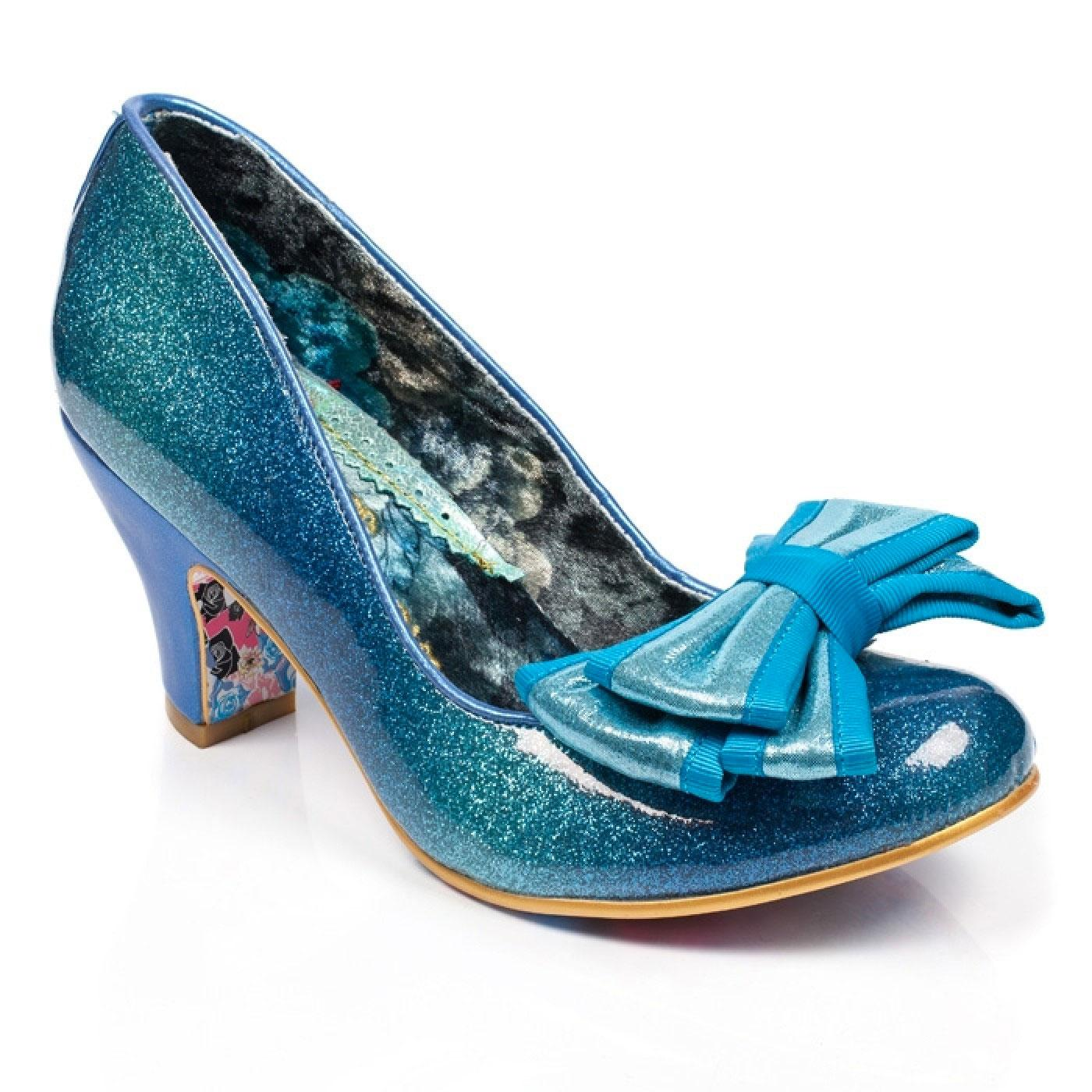 Lady Ban Joe IRREGULAR CHOICE Blue Glitter Shoes
