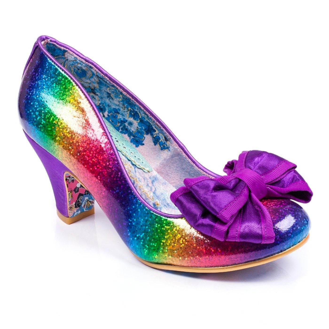 Lady Ban Joe IRREGULAR CHOICE Rainbow Glitter Heel