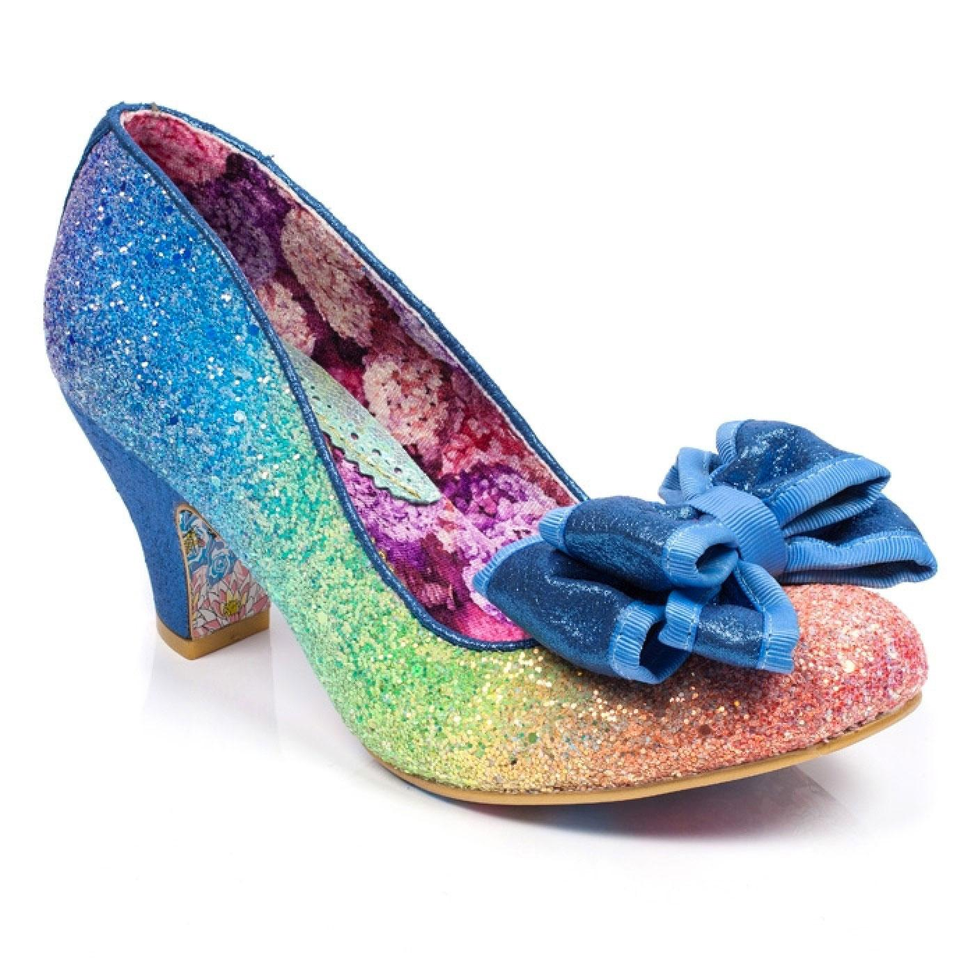 Lady Ban Joe IRREGULAR CHOICE Blue Rainbow Shoes