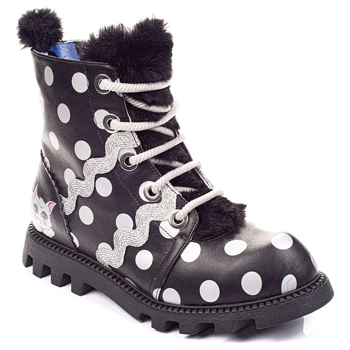 Lexie IRREGULAR CHOICE Kitten Polka Dot Boots