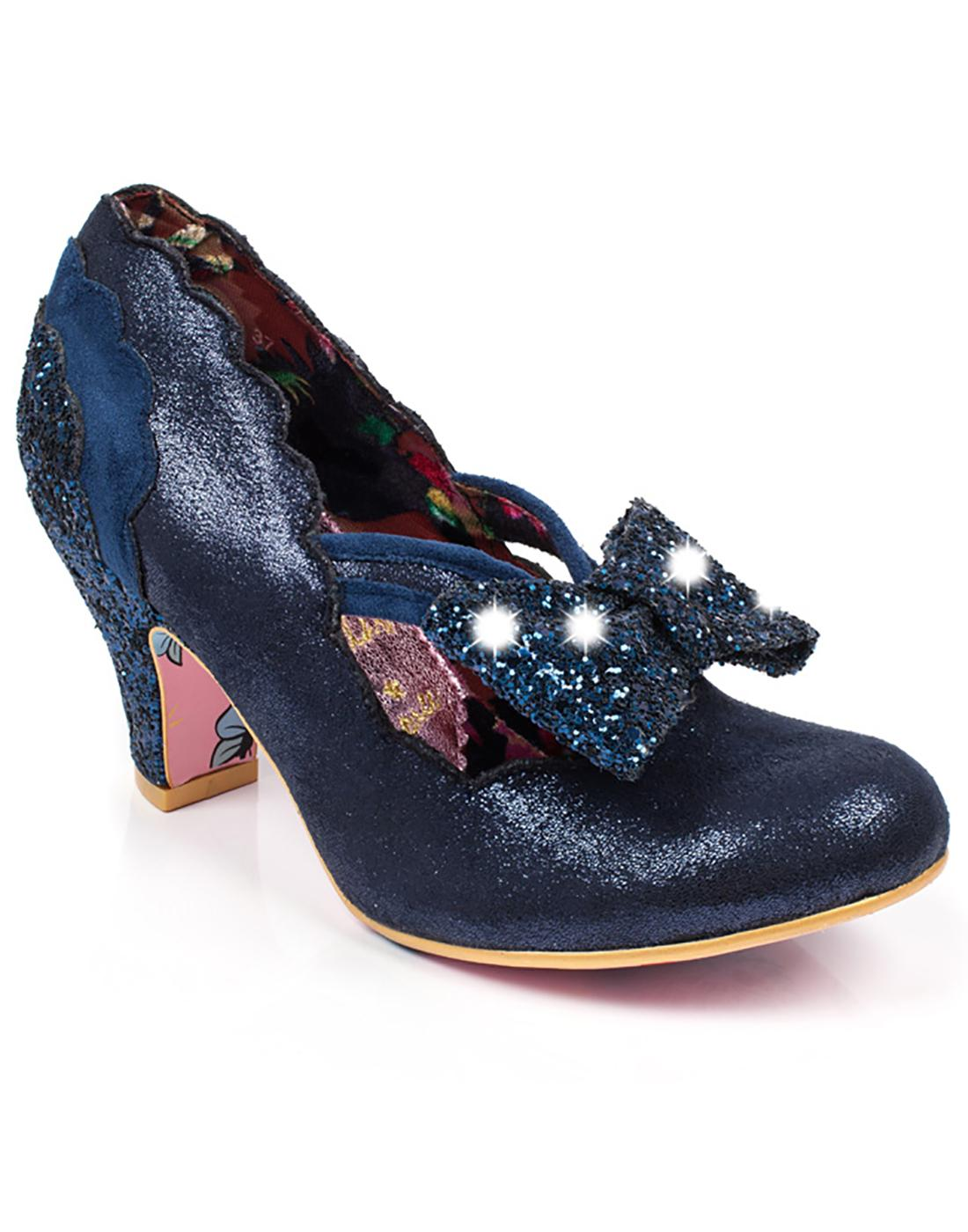 Twinkle IRREGULAR CHOICE Flashing Stars Heels Navy