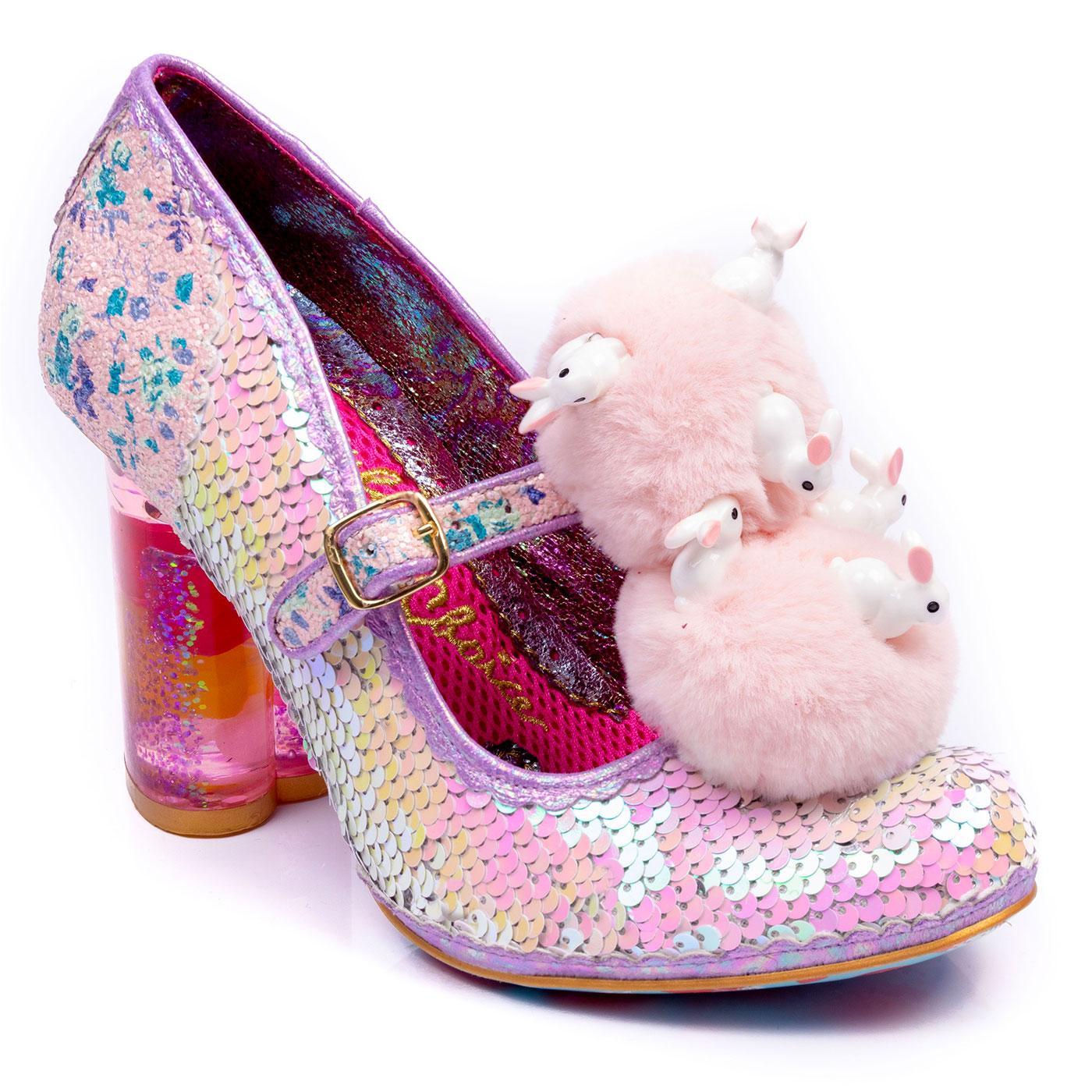 Luce Mia IRREGULAR CHOICE Fluffy Bunny Heels Pink