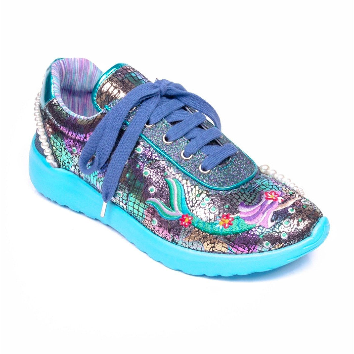 Mermazing IRREGULAR CHOICE Mermaid Trainers Blue
