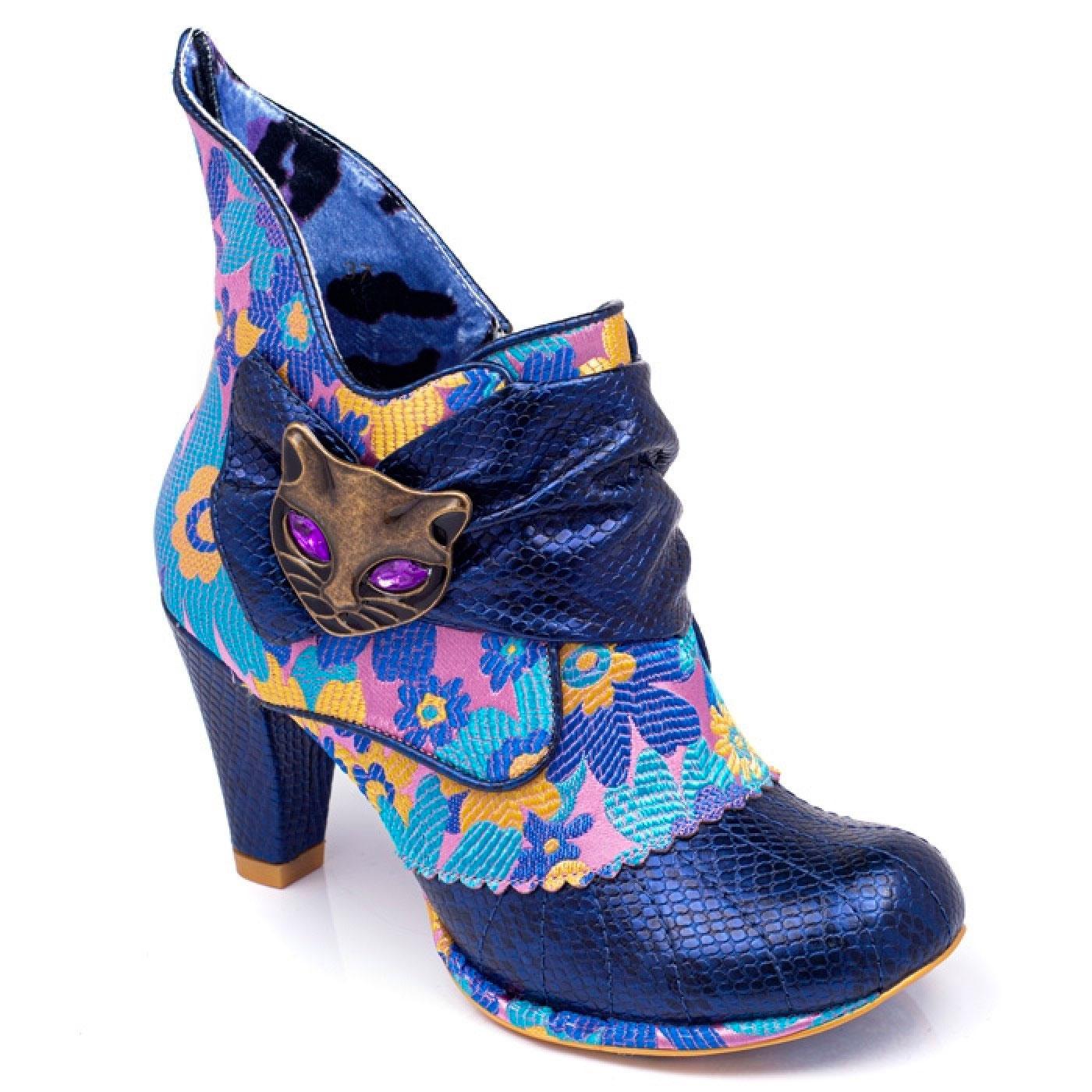 Miaow IRREGULAR CHOICE Retro 60's Floral Boots Bl