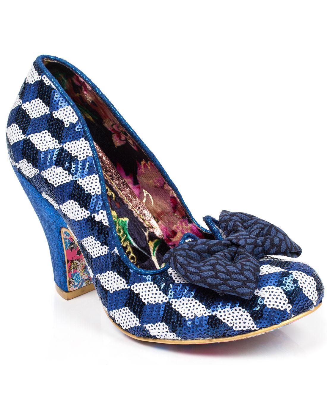 Nick of Time IRREGULAR CHOICE Harlequin Heels BLUE